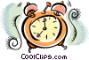 Vector Clipart graphic  of an alarm clock