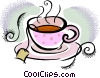 Vector Clip Art image  of a Cup of tea