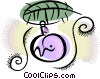 Vector Clip Art graphic  of a Christmas Ornament