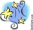 shooting stars Vector Clip Art graphic