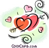 Vector Clip Art image  of a valentines day