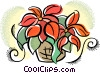 Vector Clip Art image  of a poinsettias