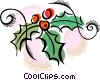 Vector Clipart picture  of a holly and ivy