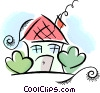 Vector Clip Art graphic  of a home