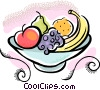 Vector Clip Art image  of a bowl of fruit