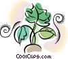 Vector Clip Art image  of a farming crops