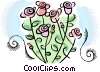 Wild flowers Vector Clipart graphic