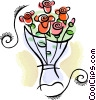 Vector Clipart illustration  of a Bouquet of flowers