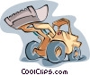 Vector Clipart graphic  of a front end loader