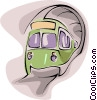 Vector Clipart graphic  of a subway train
