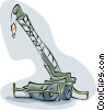Vector Clip Art graphic  of a crane