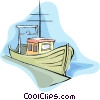 Vector Clip Art graphic  of a fishing boat