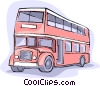 Vector Clip Art graphic  of a double decker bus