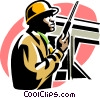 Vector Clipart picture  of a construction worker