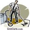 carpet cleaner Vector Clipart graphic