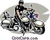 motorcycle cop Vector Clipart picture