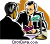 Two businessmen having a discussion Vector Clipart illustration
