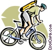 man on a mountain bike Vector Clip Art graphic