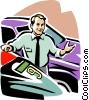 Vector Clip Art picture  of a car salesman