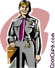 Vector Clip Art graphic  of a female police officer