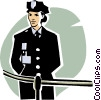 woman police officer Vector Clipart illustration