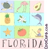 Florida postcard Vector Clip Art picture