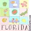 Vector Clip Art graphic  of a Florida postcard