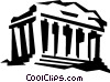 acropolis in Athens Greece Vector Clipart image