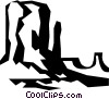 rock formations found in the desert Vector Clip Art graphic