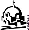 Vector Clip Art picture  of a Greek church
