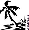 palm tree on a beach Vector Clipart picture