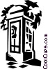 telephone booth Vector Clip Art graphic