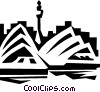 Vector Clipart graphic  of a Sydney Opera House in