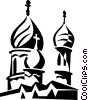 Vector Clipart graphic  of a religious temple