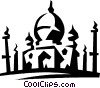Vector Clip Art image  of a mosque