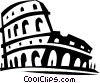 coliseum in Rome Italy Vector Clipart picture
