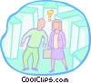 confusion between a man and a woman Vector Clip Art picture