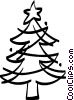 Vector Clipart graphic  of a Christmas tree