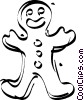 Vector Clip Art image  of a gingerbread man