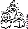 Christmas carolers Vector Clipart illustration