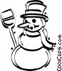 snowmen Vector Clipart illustration