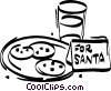 Vector Clipart picture  of a chocolate chip cookies for Santa