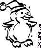 Vector Clipart illustration  of a Christmas penguin