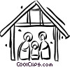 Vector Clipart image  of a Christmas Nativity Scene