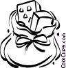 toy sack full of presents Vector Clipart picture