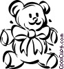 stuffed teddy bear Vector Clip Art picture