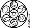 Vector Clip Art picture  of a kosher foods