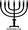 Vector Clipart illustration  of a Jewish menorah
