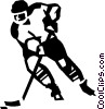 Hockey player Vector Clip Art graphic