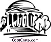 Vector Clipart graphic  of a Jefferson Memorial